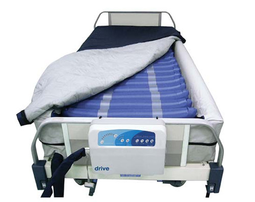 The Med-Aire Plus Alternating Pressure Low Air Loss Bariatric Mattress System 14029DP features a Raised Edge.