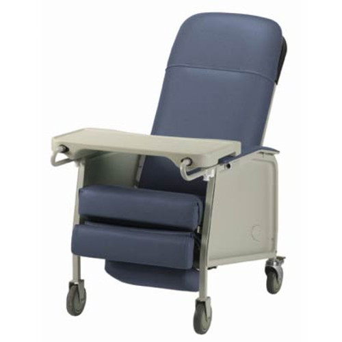 The Invacare Traditional Basic 3-Position Geri Chair Recliner is on Sale now! Available in Blueridge IH6077A/IH61 (shown), Rosewood IH6074A-IH60 and Jade IH6074A/IH68.