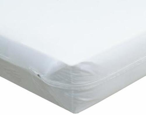 """Zippered Vinyl Mattress Protector - 42"""" x 80"""" x 6"""""""