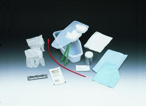 Bard Sterile Bi-Level Tray with Red Rubber Catheter & 1000 mL Collection Bag