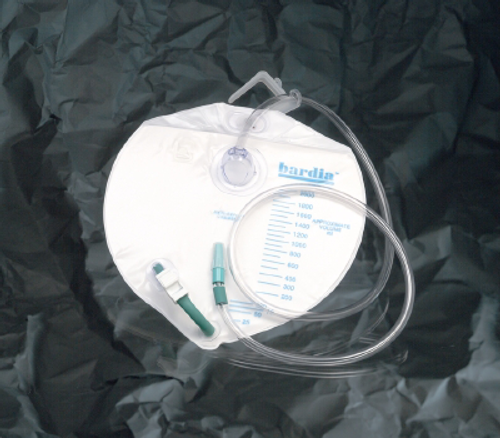 Bardia Closed System 2000 mL Drainage Bag, Swivel Hanger with Flexible Hook