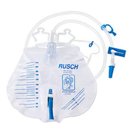 Rusch Premium Drainage Bag with Anti-Reflux Valve, 2000 mL