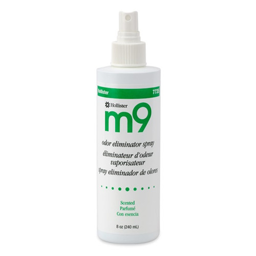 Hollister M9 Odor Eliminator Spray with Apple Scent is a safe and highly effective room spray, which helps neutralize unpleasant odors. Shown in 8 oz. spray bottle