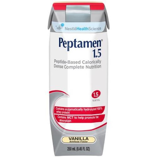 Peptamen 1.5, Ready to Use 250 mL Carton - Vanilla Flavor