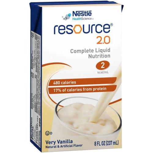 Resource 2.0 Very Vanilla - 8 oz. Carton, Ready to Use