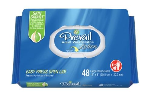 Prevail Disposable Washcloths - Vitamin E & Aloe, Scented