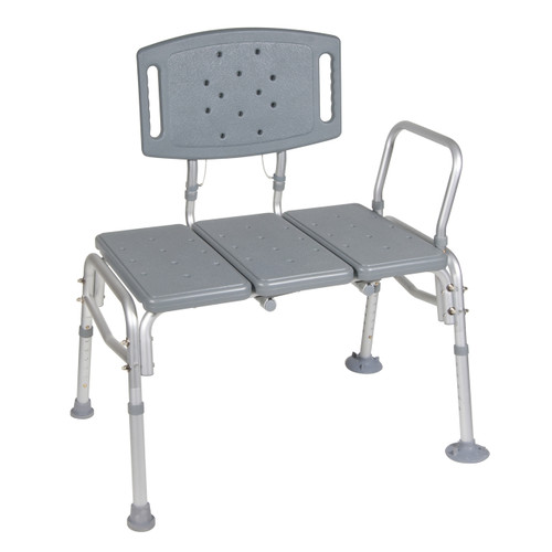 Drive Medical Heavy Duty Bariatric Plastic Seat Transfer Bench