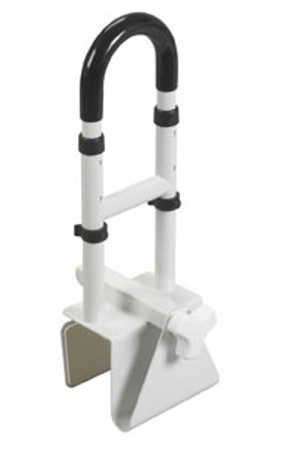 "Adjustable Height Bathtub Grab Bar Safety Rail - 14"" to 17"" Height"