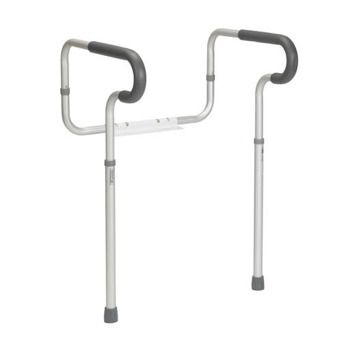 Drive Medical Adjustable Toilet Safety Frame with Padded Armrests