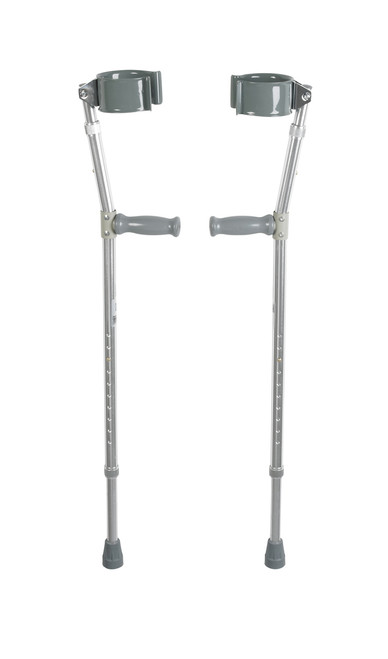 """Lightweight Walking Forearm Crutches - Users 5' 0"""" to 6' 6"""" Height"""