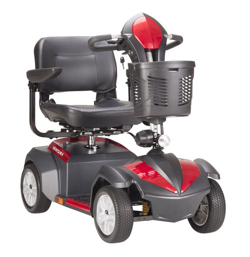 Ventura 4-Wheel Power Mobility Scooter  (Red)