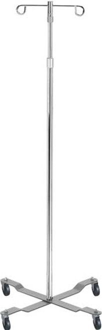 Drive Economy IV Pole with Removable Top, 2 Hooks (shown in chrome). Item# 13033.