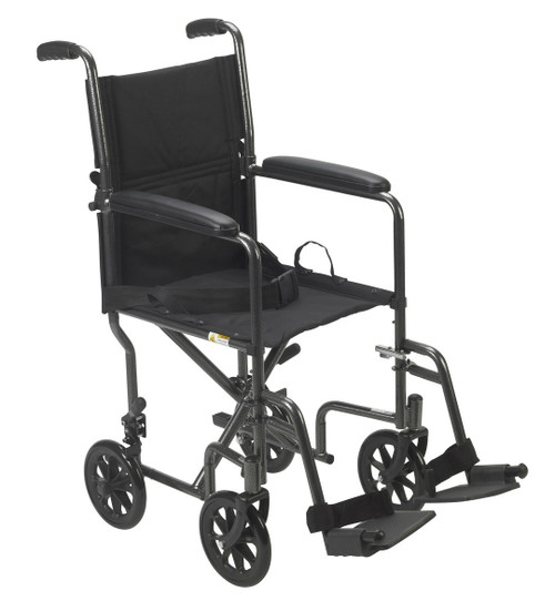 "Drive Lightweight Steel Transport Chair - 17"" or 19"" Seat"