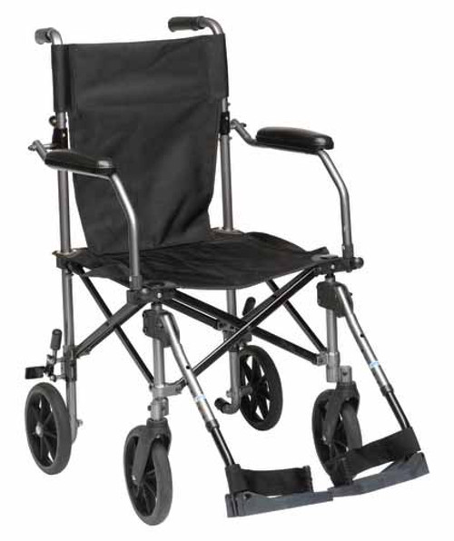 Travelite Transport Chair TC005GY is sturdy, yet lightweight.