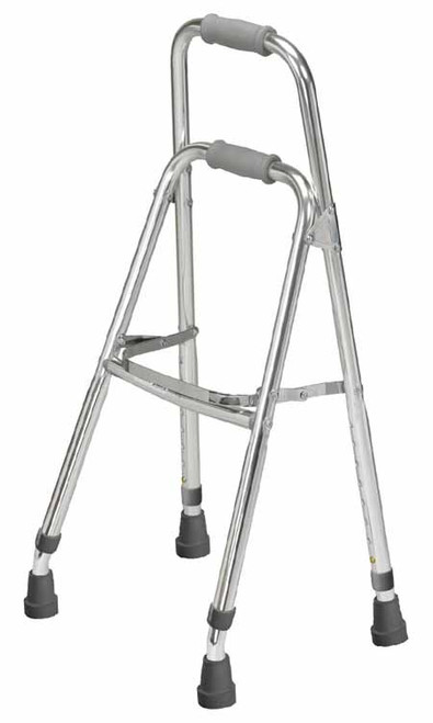 Drive Side Style Hemi Walker 10240 is ideal for those who can only use one arm or hand or for individuals who may not need a walker, but simply need a wider base of for support.