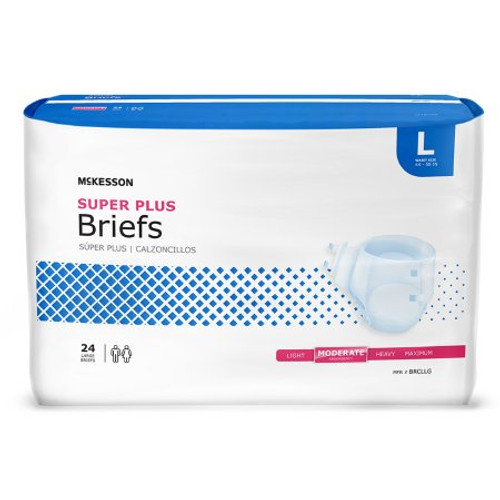 Adult Super Plus Tab Closure Briefs - Moderate Absorbency