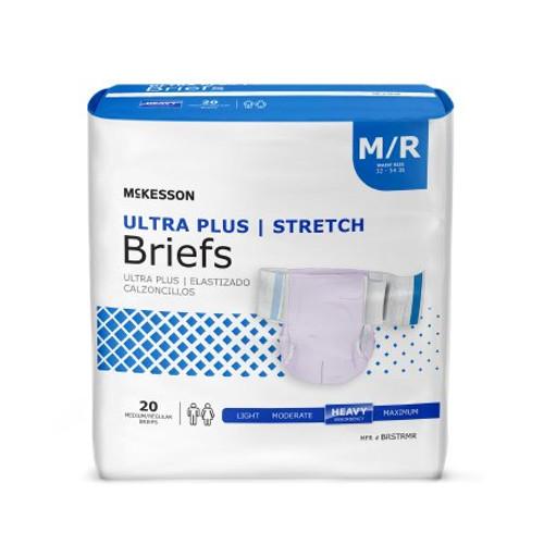 Adult Stretch Tab Closure Briefs - Heavy Absorbency. (Medium, Lavender Color)