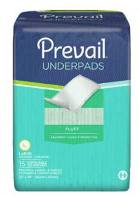"Prevail Premium Fluff Underpads - Moderate Absorbency, 23"" x 36"""