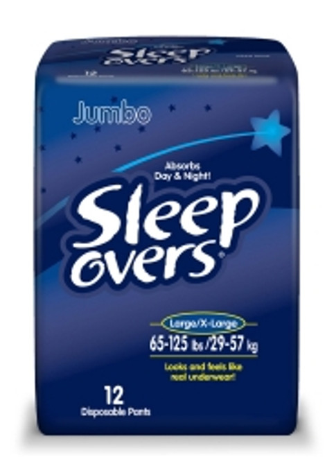 Sleep Overs Pull On Disposable Heavy Absorbency Youth Absorbent Underwear