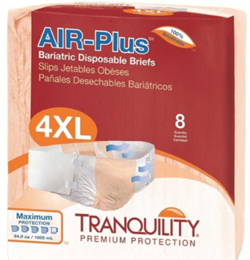 Tranquility AIR-Plus Tab Closure Bariatric Briefs - Maximum Absorbency