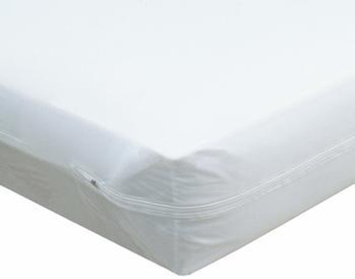 Zippered Vinyl Mattress Cover provides 100% waterproof protection for your mattress. Easy to maintain just wipe clean. Antibacterial 100% waterproof vinyl. Zipper cover fully incases your mattress for full protection against incontinence, spills, dust, odors and other stain-causing agents.