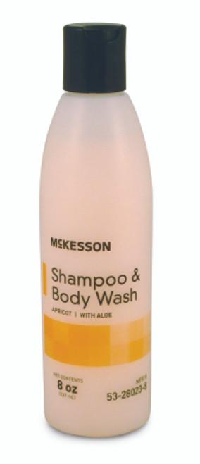 McKesson Shampoo & Body Wash, 8 oz. Squeeze Bottle - Apricot Scent