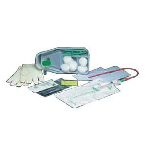 Bard Sterile Bi-Level Tray, 1000 mL Collection Bag with Red Rubber Catheter, 14 to 15 Fr (Case of 20)