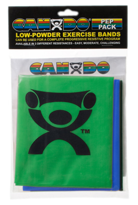 CanDo Low Powder PEP Exercise Bands, 4' (Moderate Resistance)