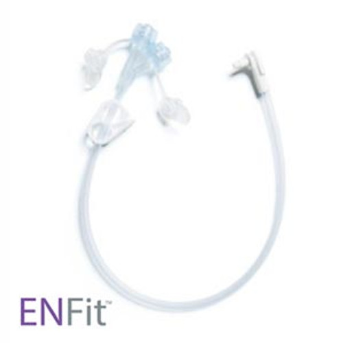 MIC-KEY ENFit Feeding Tube Extension Sets 0141-12 (12 inch) and 0141-24 (24 inch) feature the new standard connector designed to prevent tubing misconnections. For use with MIC-KEY Low Profile Gastrostomy, Jejunal, and Transgastric-Jejunal Feeding Tubes.