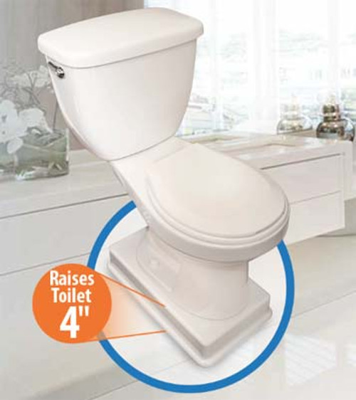 """Biggie Medway Easy Toilet Riser for Longer Base Commodes - 4"""" Riser"""