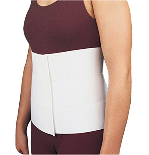 """Bird & Cronin Unisize Abdominal Binder with Stays and Hook and Loop Closure, 26"""" to 50"""" Hip Measurement, Latex-free."""