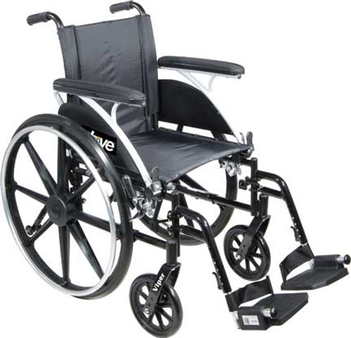 The Drive Medical Viper is a versatile wheelchair right out of the box and it is easier to propel and transport than an average weight wheelchair.