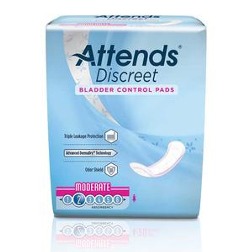 Attends Discreet Pad - Moderate Absorbency