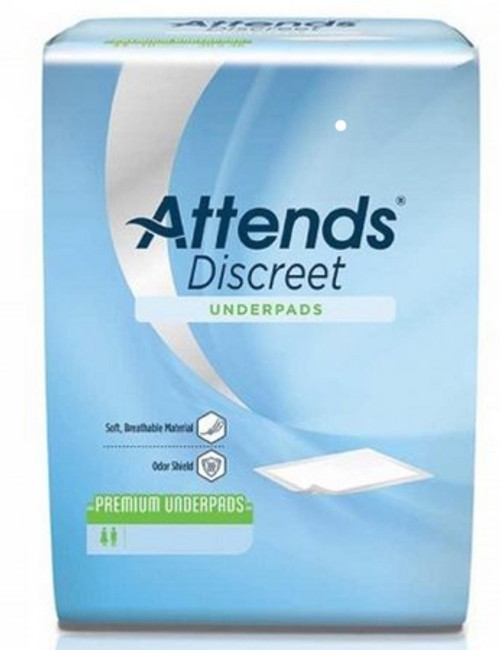 "Attends Discreet Premium Underpads - Moderate Absorbency, 30"" x 36"""