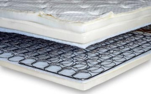 Flex-A-Bed's Innerspring Medium Mattresses features a beautiful knit fabric quilt design with tack and jump pattern and contrasting grey side panels with designer taped edges.