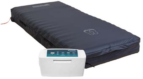 The Protekt Aire 5000DX Deluxe Alternating Pressure Mattress with Low Air Loss offers therapies in one system from NewLeafHomeMedical.com