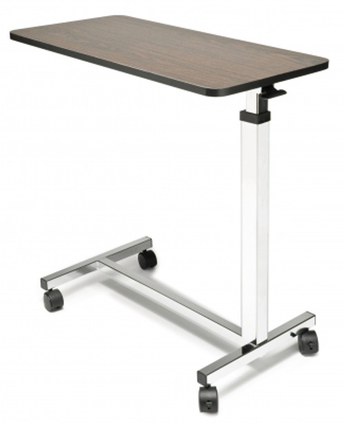 Lumex Overbed Table - Non-Tilt, shown in Chrome base finish (GF8902)