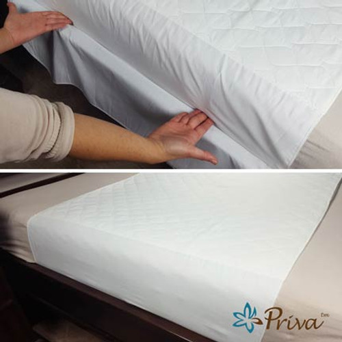 Priva Ultra Waterproof Sheet Protectors feature Tuck-In Flaps to secure your protection in place.