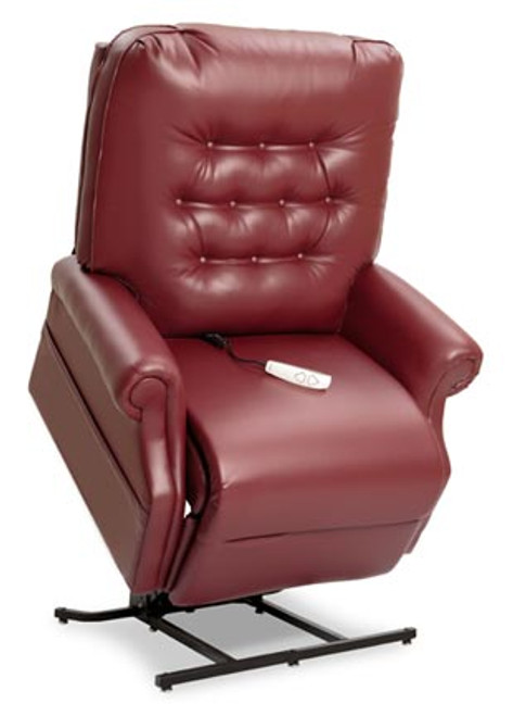 The LC-358XL 3-Position Heavy Duty Chaise Lounger is available in four standard Cloud 9 fabric options (Black Cherry, Pacific, Stone, and Walnut), plus Crypton Aria, Lexis Sta-Kleen and Ultraleather upholstery upgrade options. Shown in Ultraleather Garnet upholstery.
