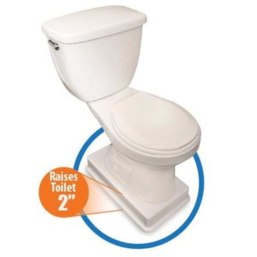 "Easy Toilet Riser by Medway for Standard Commodes - 2"" Riser"