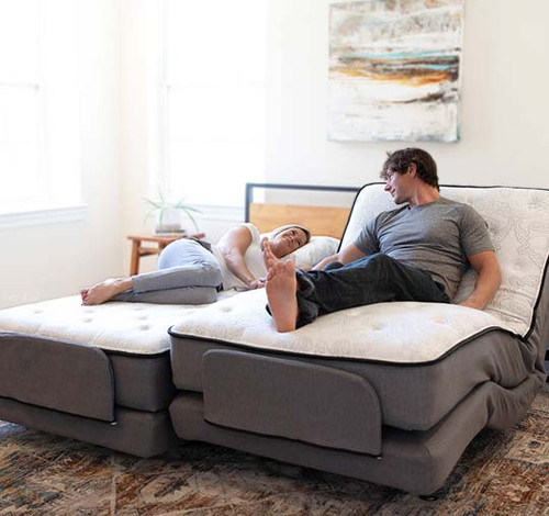 The Flex-A-Bed Premier models offer luxurious comfort and premium features. (Shown as Dual King model) Headboard is not included.