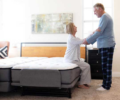 """The variable height Hi-Lo Flex-A-Bed model offers an overall height adjustable range from a low of 25"""" to high of 32"""" (including mattress). Headboard is not included."""