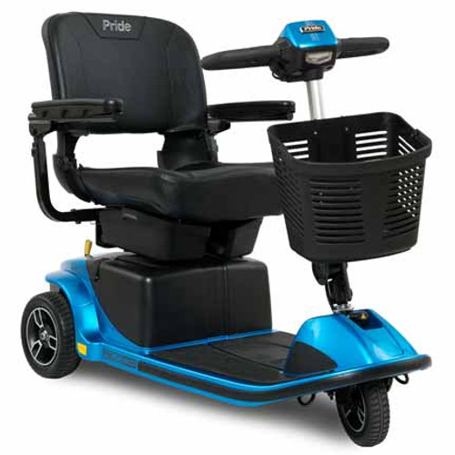 Revo 2.0 w/ CTS Suspension 3-Wheel Scooter by Pride Mobility (shown in True Blue)
