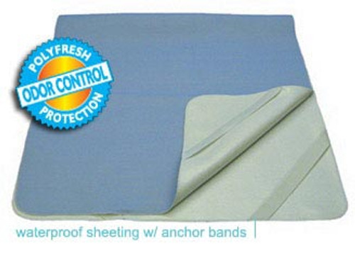The Secure Mattress Cover for Twin Mattresses are heavy-absorbent and feature anchor bands on all four corners.