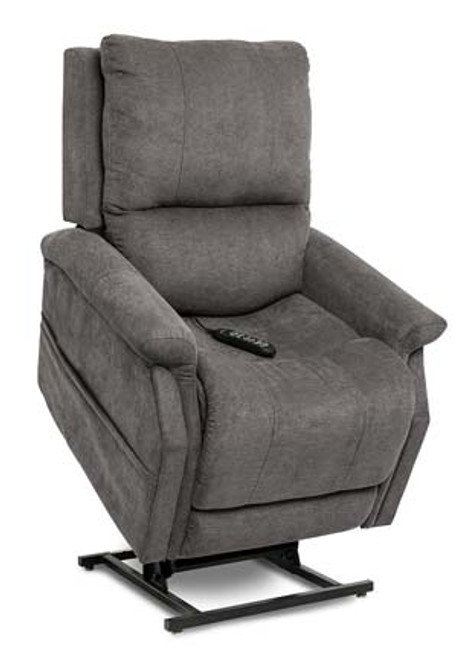 The Metro Infinity Position Chaise Lounger is available in two standard Saville fabric options (Brown and  Grey). Shown in Saville Grey upholstery.