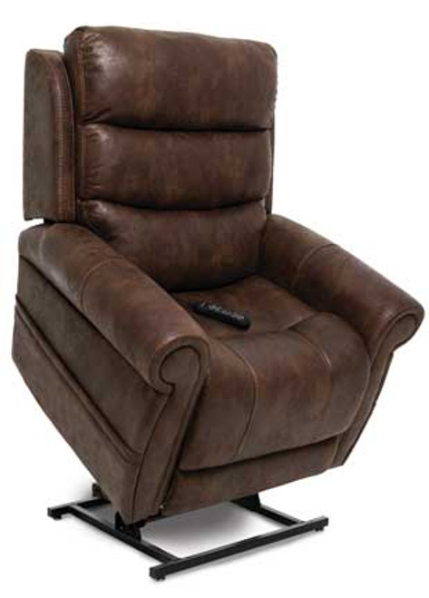 The Tranquil Infinity Position Chaise Lounger is available in three  standard Astro fabric options (Brown, Grey and Mushroom). Shown in Astro Brown upholstery.