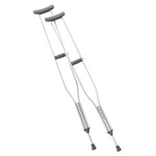 """Cardinal Health Push Button Adult Crutches are built for high-quality performance. Designed specifically for adult height ranges 5'2"""" to 5'10"""" (model ZCHCA901AD) and 5'10"""" to 6'6"""" (model ZCHCA901TL)."""