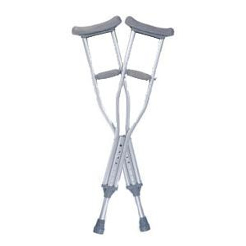 """Medline Industries' Guardian Quick-Fix Child Adjustable Crutches are designed specifically to fit children in the height range of 3' 9"""" to 4' 7""""."""