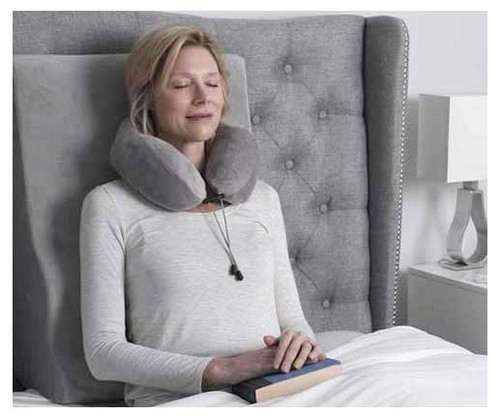 This soft and luxurious velour pillow with ergonomically-designed memory foam provides support for the head and neck while at home or not the go.