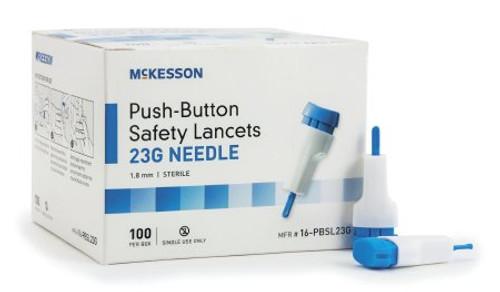 McKesson Push-Button Safety Lancets - 23 Gauge